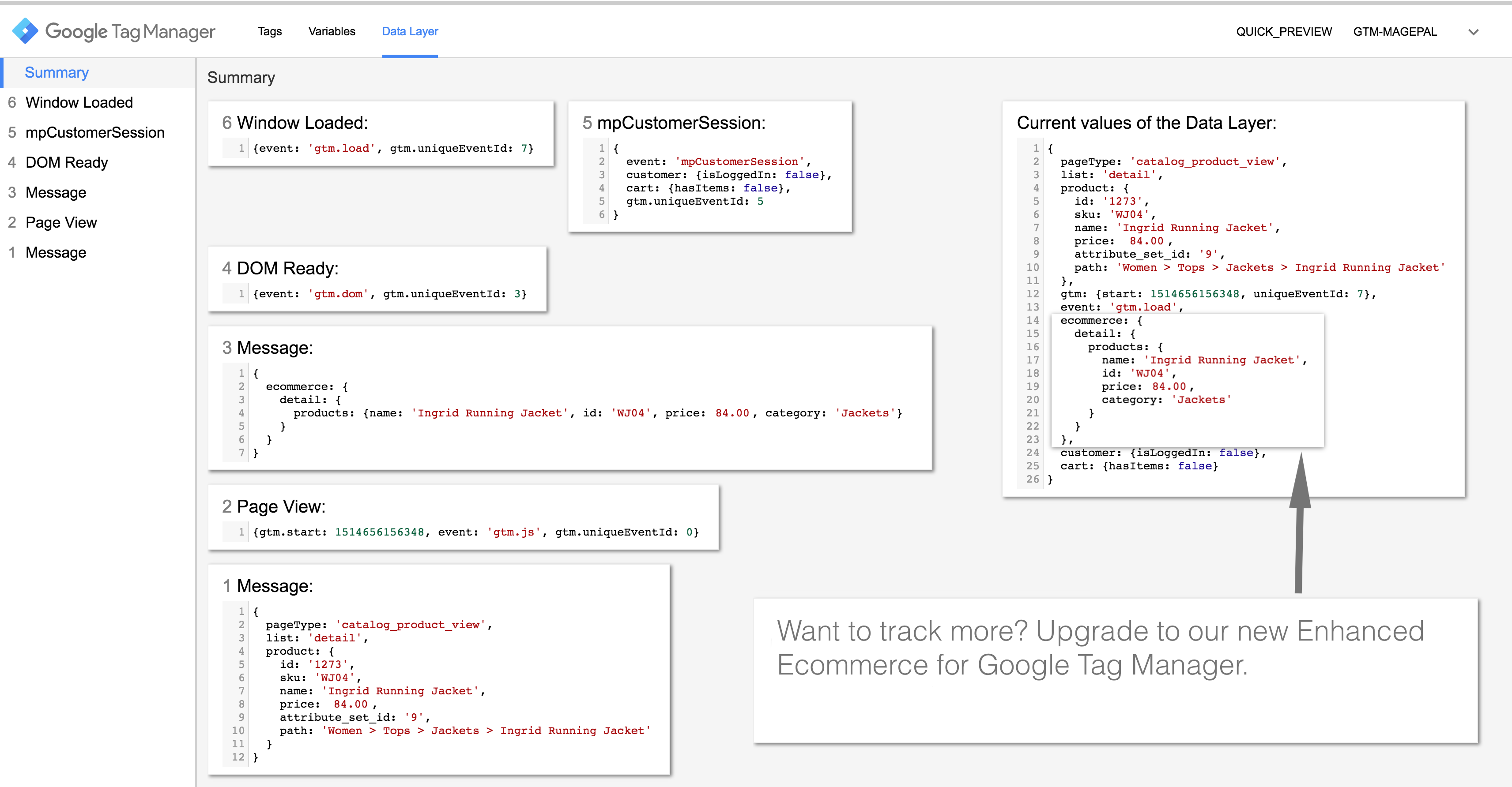 Preview and Debugging Google Tag Manager
