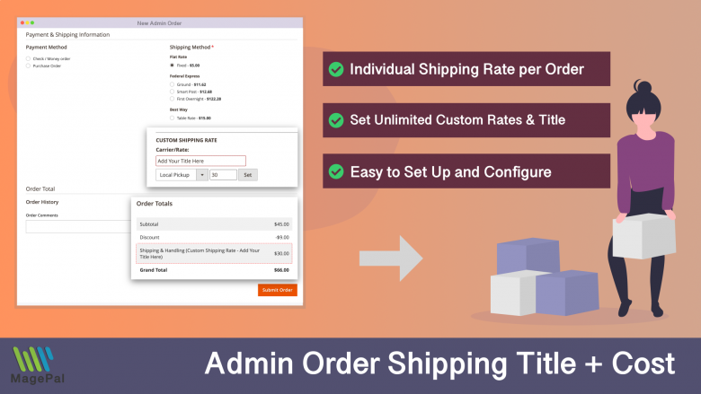 Custom shipping rate for magento