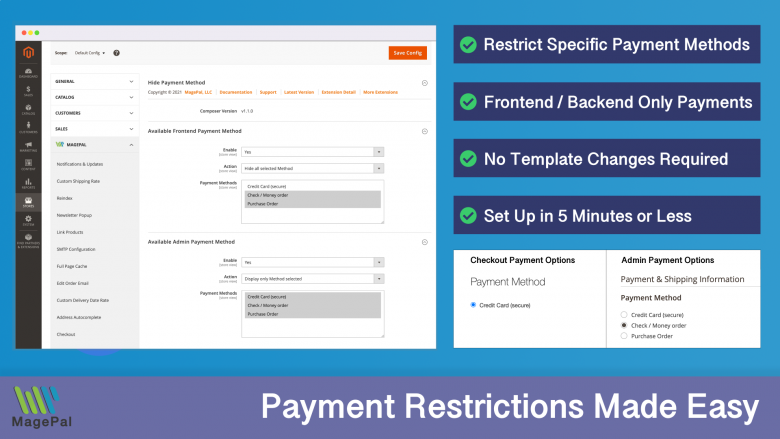 Payment Restrictions for Magento 2
