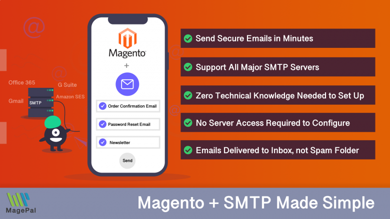 Magento2 SMTP Extension